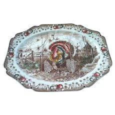 Vintage Johnson Brothers His Majesty Turkey Platter