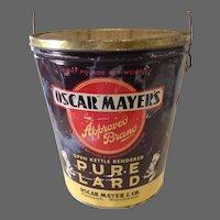Vintage Oscar Mayer Approved Brand Lard Tin
