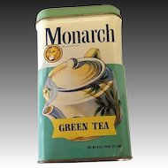 Vintage Monarch Green Tea Tin