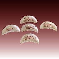 Vintage Bone Dish Enameled fuchsia