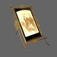 Vintage Early Wire Picture Frame