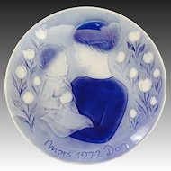 Vintage Desiree Old Copenhagen Mothers Day Plate 1972