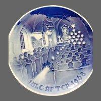 Vintage 1968 B & G Denmark Christmas in church plate