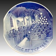 Vintage 1968 B & G Denmark Christmas in church plate