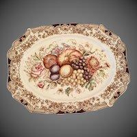 Vintage Windsor Ware Harvest Turkey Platter