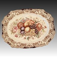 Vintage Windsor Ware Harvest Turkey Platter