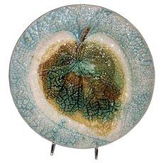 """Majolica Begonia Leaf 8"""" Plate"""
