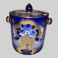 Keeling Co Losol Ware Flow Blue Biscuit Jar-Kensington