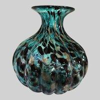 Huge Murano Melon Rib Art Glass Vase-1950's