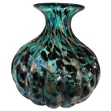 Huge Murano Melon Rib Art Glass Vase-1950's