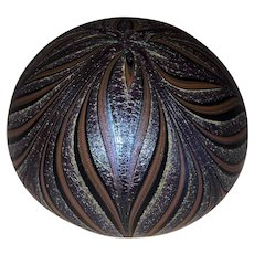 Orient & Flume Art Glass Paperweight-Pulled Feather