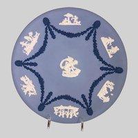 "Wedgwood Jasperware Tricolor 9"" Plate-Cherubs"