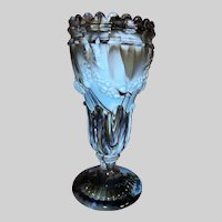 English Slag Glass Garland Vase