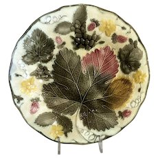 Wedgwood Majolica Grape Leaves Plate