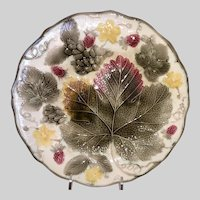 Wedgwood Majolica Grape Leaves Plate