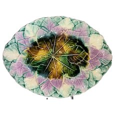 Majolica Multicolored Leaf Platter