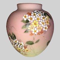 Mount Washington Decorated Burmese Vase