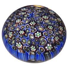 Italian Murano Art Glass Millefiori Paperweight-Tightly Packed