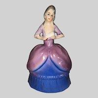 German Porcelain Colonial Lady Figure Perfume Bottle