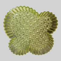 Hobb Brockunier Uranium Glass Serving Tray