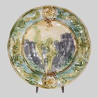 European Majolica Commemorative Plate