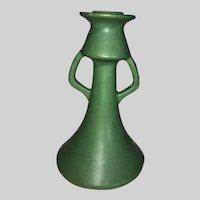 Weller Pottery Matt Green Candlestick-1905