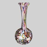 Italian Art Glass Millefiori Vase
