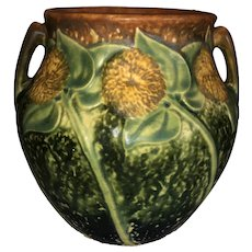 Roseville Pottery Sunflower Vase 513-5