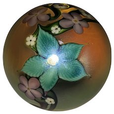 Orient & Flume Art Glass Floral Paperweight