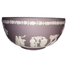 Wedgwood Jasperware Lilac Sacrifice Bowl-1980