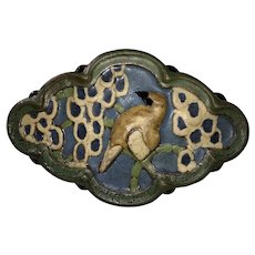 Grueby Faience Art Pottery Bird Tile-c1910