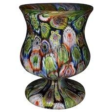 Italian Art Glass Millefiori Miniature Urn Vase