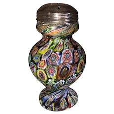 Italian Art Glass Millefiori Sugar Shaker