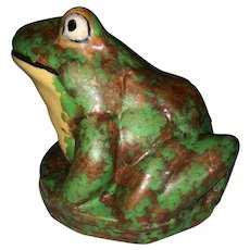 Weller Coppertone Fountain Frog Figure