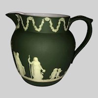 Wedgwood Jasperware Milk Pitcher in Dysart Green