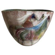Polia Pillin Art Pottery Bowl with Horses