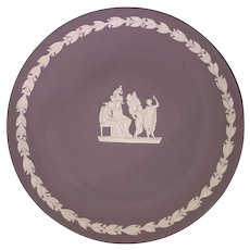 Wedgwood Jasperware Lilac Plate