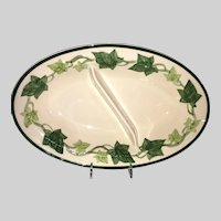 Gladding, McBean Franciscan Ivy Divided Serving Bowl