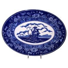 Blue Mayflower Transfer Ware Platter