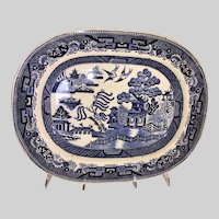 Straus & Sons Blue Willow Transferware Platter