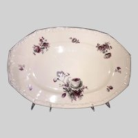 R S Germany Platter-Floral Bouquet