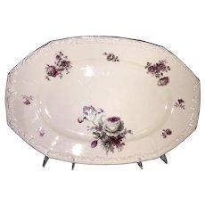 R S Germany Platter-Floral Bouquet