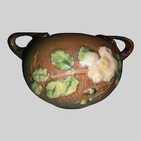 Roseville Pottery White Rose Pot-387-4