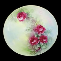 Haviland Limoges France Plate Hand Painted Roses Signed Tremaine