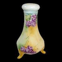 Limoges France Porcelain Hat Pin Holder Hand Painted Violets