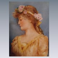 MAGNIFICENT French Limoges - Framed Porcelain Masterpiece - Hand Painted - Artist Signed - One-of-a-Kind - Portrait Plaque - Tile - Museum Quality - Collector Piece - Beautiful Heirloom Treasure