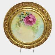 Framed Haviland Limoges Plate Hand Painted Artist Signed