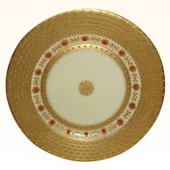 Gorgeous Royal Vienna Plate Heavy Gold Jeweled