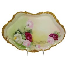 Guerin French Limoges Tray Hand Painted Tea Roses