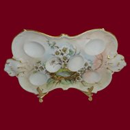 Hand Painted Antique French AK Limoges Egg Tray